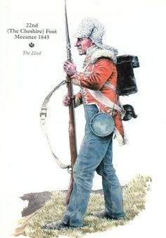 BRITISH ARMY - 22nd - Cheshire- Private - Meeanee- 1843