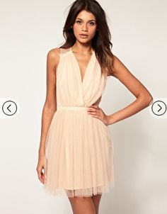 Nude Bridesmaid Dress ASOS Short .