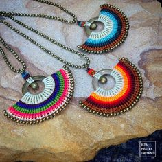 Macrame Colar, Macrame Earrings, Macrame Jewelry, Diy Earrings, Wire Jewelry, Jewelery, Micro Macramé, Diy Jewelry Making, Diy Accessories