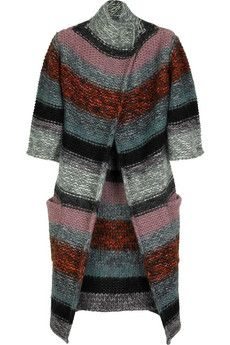 Chloé Striped chunky cardigan | NET-A-PORTER