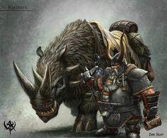 dwarf rhinox by gilanthegrey.deviantart.com on @DeviantArt