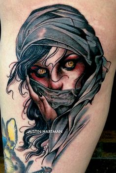 Tattoo done by Justin Hartman.