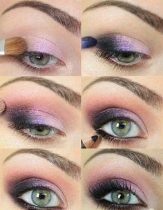 green eyes make-up lilac eyeshadow . green eyes make-up lilac eye shadow Best Makeup Tutorials, Make Up Tutorials, Makeup Tutorial For Beginners, Best Makeup Products, Beauty Products, Beauty Tips, Hair Beauty, Beauty Secrets, Beauty Hacks