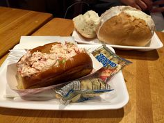 Lobster roll and soup  So nice