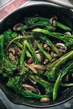 Balsamic Broccoli And Wild Mushroom Skillet