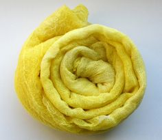 Cotton scrim hand dyed in yellow