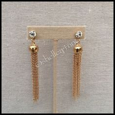 Gold Tassel Earrings By  t+j Designs  | Nickel-free & Lead-free | Limited quantities available! | ✨ Also available in SILVER ✨ T&J Designs Jewelry Earrings