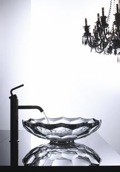 The Briolette glass sink.