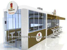 Food Kiosk Koftecim F-3 /Kiosk Food/Outdoor Kiosk/Indoor Kiosk/Mobil Kiosk $9589 Shipping Container Restaurant, Shipping Container Buildings, Shipping Container Design, Shipping Containers, Small Restaurant Design, Restaurant Plan, Kiosk Design, Cafe Design, Juice Bar Design