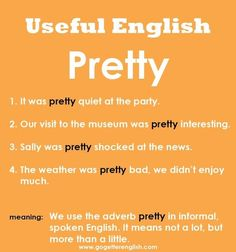 Useful English - Pretty