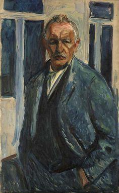 Edvard Munch, Edvard Munch, self-portrait on ArtStack #edvard-munch #art