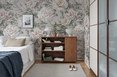 Bring a stunning vintage rose wallpaper to your walls. Now with free delivery and wallpaper paste for paste the wall assembly. Wallpaper Paste, Rose Wallpaper, Rebel, Vintage Roses, Designer Wallpaper, Betta, Wall Murals, Sweet Home, Interior Decorating
