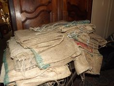 We have a pile of coffee sacks and a lot of ideas.