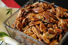 Crunchy Caramelized Nuts      Save Print   Nuts carmelized in the microwave–shiny, sweet and crunchy