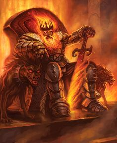 Surtr - ruler of the land of Muspelheim. Destined to destroy Asgard at Ragnarok.