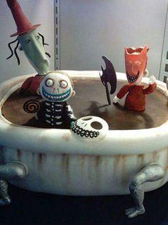 ghoulie bathtub cake