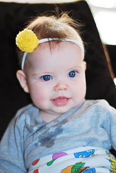 Pom pom headband.  sc 1 st  Pinterest & Littlest Starfleet Officer - Baby Star Trek Costume | Inspired to ...