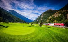 Luxury summer Golf in the Alps, book an alpine chalet holiday with Alps In Luxury, part of the Blue Skies Lifestyle Collection. Holiday Activities, Summer Activities, Alpine Chalet, Golf Holidays, Alps, Golf Courses, Sky, Luxury, Sport