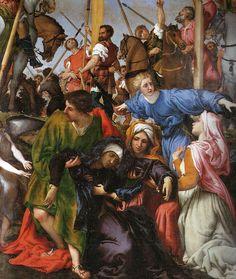 Lorenzo Lotto, c.1480-1556, Italian, Crucifixion (detail), 1531.  Oil on panel.  Church of Santa Maria in Telusiano, Monte San Giusto.  High Renaissance.