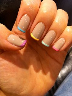 french choice for nail art simple and sweet