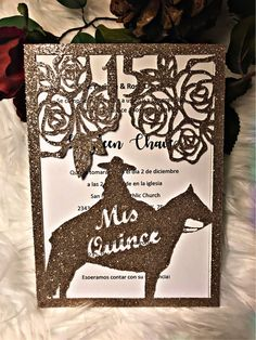 Excited to share the latest addition to my #etsy shop: Invitaciones charras para quinceañeras #quinceanerasweet16 #charra #vaqueras #caballos #western #quinceanera #invitaciones