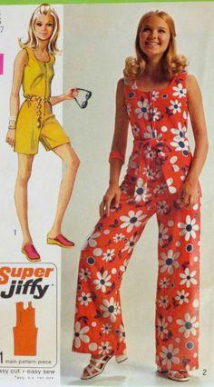 Seventies Fashion, 60s And 70s Fashion, Retro Fashion, Vintage Fashion, Vintage Outfits, Vintage Dresses, Vintage Mode, Retro Vintage, Vintage Overall
