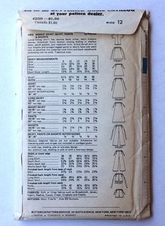http://www.ebay.com/itm/Butterick-KENZO-Pattern-4259-Shirt-Skirt-Shorts-Pants-Waist-Tie-UNCUT-Size-12-/282093380027?hash=item41ae1361bb:g:OI0AAOSwZ1BXfpGu