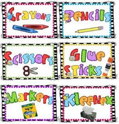 first grade fever back to school supply labels