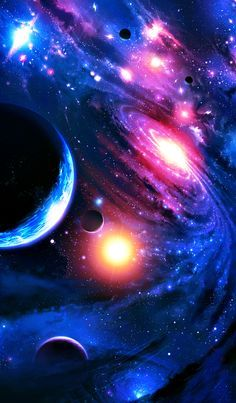 Galaxies, nebulas and planets ♥ I love outer space art! Planets Wallpaper, Wallpaper Space, Wallpaper Backgrounds, Nebula Wallpaper, Rainbow Wallpaper, Galaxy Space, Galaxy Art, Galaxy Planets, Space Planets