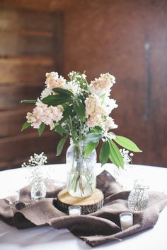 Country Wedding Centerpieces