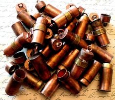 Copper, Glass and Recycled Trash: Treasure Tube Giveaway