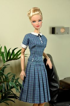 Barbie - Mad Men Checked dress