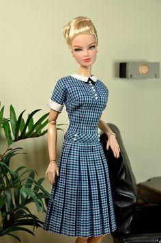 79-8. MAD MEN Peggy Olsen Checkerboard Dress by Natalia Sheppard, via Flickr