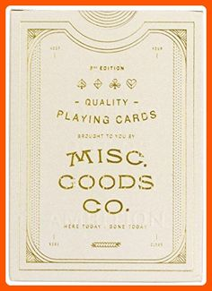 Misc. Goods Co. MGCO Card Deck - White by Misc. Goods Co. - Fun stuff and gift ideas (*Amazon Partner-Link)