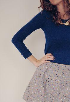 jupe avec Tissu Candy Flakes Atelier Brunette - Patron Twist édition School par Vanessa Pouzet - Photos Vanessa Pouzet