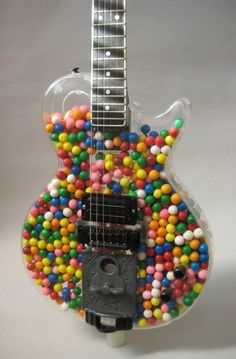 """When it's you need a Gumball Guitar. This is an Object D'art from Tonal Musical Instruments. It's called The """"Gumball"""" Guitar and is circa Guitar Art, Music Guitar, Cool Guitar, Guitar Tattoo, Playing Guitar, Simple Guitar, Ukulele Art, Blue Guitar, Guitar Logo"""