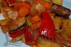 Ghiveci de legume Romanian Food, Home Food, Healthy Eating, Healthy Food, Vegetable Recipes, Healthy Recipes, Meat, Chicken, Vegetables
