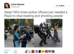 Pepsi And Kendall Jenner Are Getting Dragged For Thinking Soda Can Stop Cops From Shooting Your Black A$$ -  Click link to view & comment:  http://www.afrotainmenttv.com/pepsi-and-kendall-jenner-are-getting-dragged-for-thinking-soda-can-stop-cops-from-shooting-your-black-a/