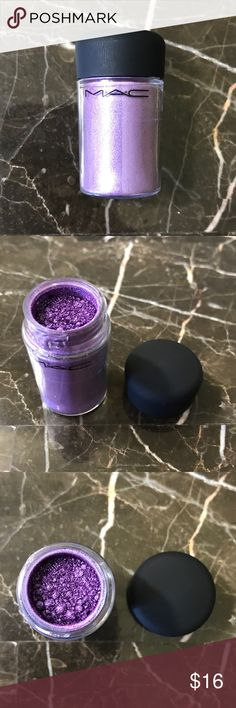 MAC Pigment Violet 100% Authentic. Full size. Swatched once. Please note: Pigments are sold by weight, not volume. Containers can appear to be less full due to density and settling of product. MAC Cosmetics Makeup Eyeshadow