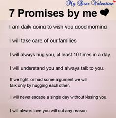 7 promises i love u quotes are as under
