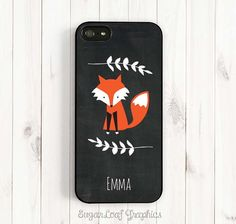 Cute Fox iPhone 6 Plus Case Fox and Laurel by SugarloafGraphics