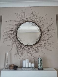 Beautiful Birch tree branch mirror handmade by Sarah Davies @ OneOfAKind