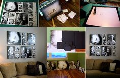 Wonderful Idea for people lke me with hard time stiking somthing to my strangely made walls:) #DIY Canvas Photos