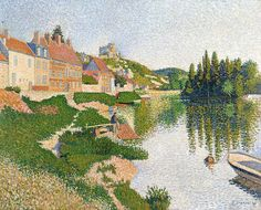 The River Bank Painting  - The River Bank Fine Art Print