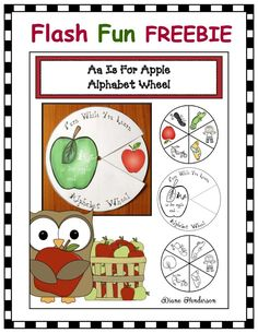 FREE apple alphabet craft. Here's a quick, easy & super-fun little craft you can put in your alphabet center; or have children make their own. Helps with a variety of standards too. :-) If they are like my kiddos they will absolutely LOVE this. :-)