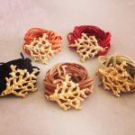 100% Leather wraparound 24k gold dipped coral bracelet zerzurajewelry