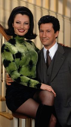 Fran Drescher (left, as Fran Fine) and Charles Shaughnessy