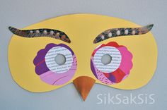 - - - SikSakSis - - -: Askartele vekkulit eläinnaamarit! Art For Kids, 21st, Owl, Crafts, Craft Ideas, Art For Toddlers, Art Kids, Manualidades, Owls