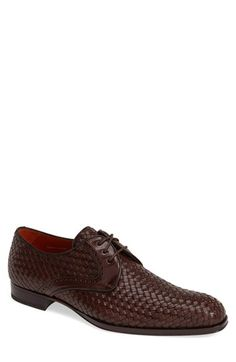 Mezlan 'Rueda' Woven Leather Derby (Men) available at #Nordstrom