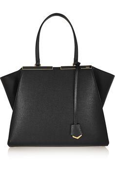 Fendi 3Jours medium textured-leather tote NET-A-PORTER.COM